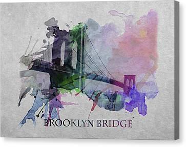 Brooklyn Bridge 2 Canvas Print by Steve K