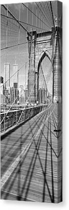 Brooklyn Bridge Manhattan New York City Canvas Print by Panoramic Images