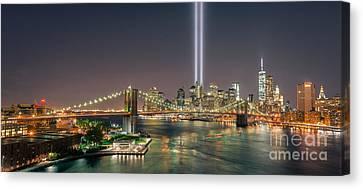 Brooklyn Bridge September 11 Canvas Print