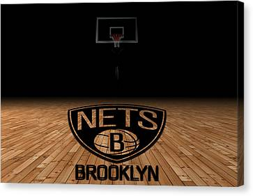 Benches Canvas Print - Brooklyn Nets by Joe Hamilton