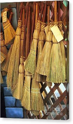 Brooms For Sale Canvas Print by David Smith