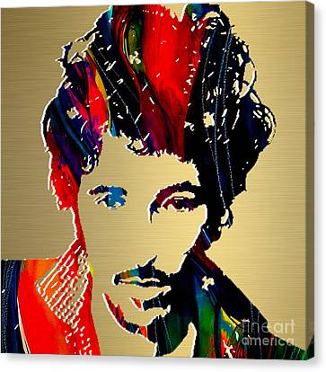 Bruce Springsteen Gold Series Canvas Print by Marvin Blaine
