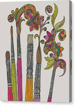 Illustrations Canvas Print - Brushes by Valentina