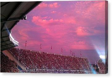 Bryant-denny Painted Sky Canvas Print by Kenny Glover