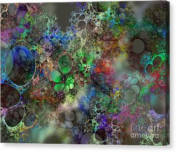 Bubbles Canvas Print by Klara Acel