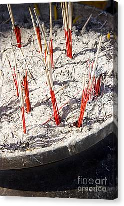 Buddhist Temple Incense Canvas Print by Jorgo Photography - Wall Art Gallery