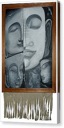 Buddish Facial Reactions Canvas Print