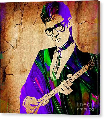 Cricket Canvas Print - Buddy Holly Collection by Marvin Blaine