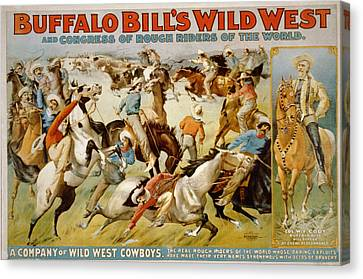 Buffalo Bills Wild West Canvas Print by Unknown