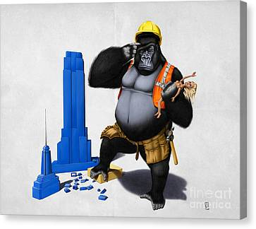 Building An Empire Wordless Canvas Print by Rob Snow