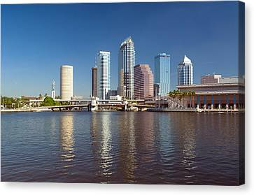 Buildings At The Waterfront, Tampa Canvas Print
