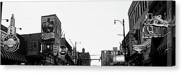 Buildings In A City At Dusk, Beale Canvas Print by Panoramic Images