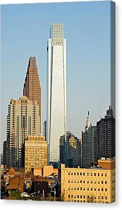 Buildings In A City, Comcast Center Canvas Print by Panoramic Images