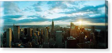 Buildings In A City, Empire State Canvas Print by Panoramic Images