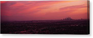 Buildings In A City, Hollywood, San Canvas Print by Panoramic Images
