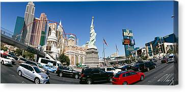 Buildings In A City, New York New York Canvas Print by Panoramic Images