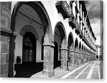 Buildings In Ponta Delgada Canvas Print by Gaspar Avila