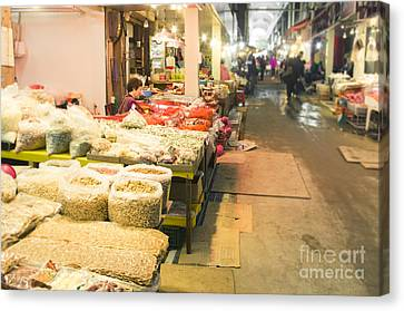 Bujeon Market In Busan Canvas Print by Tuimages