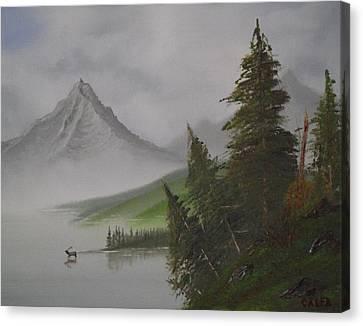Bull Lake Canvas Print by Caleb Mitchell