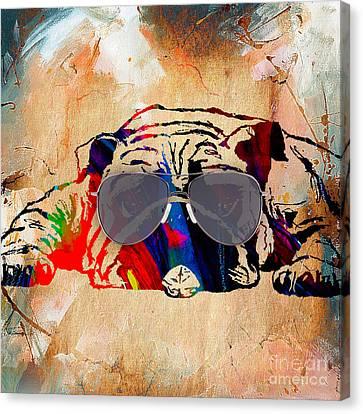 Bulldog Collection Canvas Print by Marvin Blaine