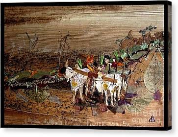 Bullock Cart Canvas Print