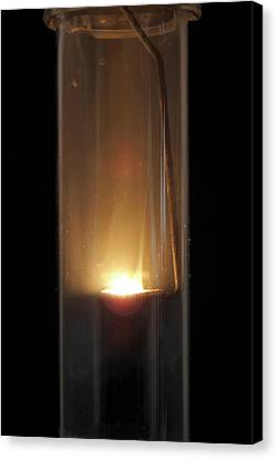 Combusting Canvas Print - Burning Zinc by Trevor Clifford Photography