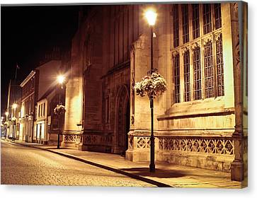 Bury St Edmunds Night Scene Canvas Print by Tom Gowanlock