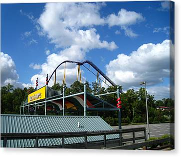 Canvas Print featuring the photograph Busch Gardens - 12121 by DC Photographer