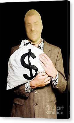 Business Or White-collar Thief Canvas Print by Jorgo Photography - Wall Art Gallery