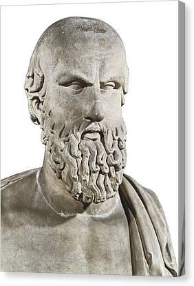 Bust Of Aeschylus. 5th C. Bc. Greek Canvas Print
