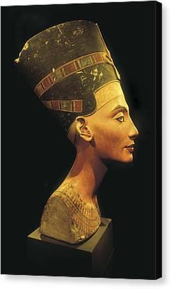 Bust Of Nefertiti. S.xiv Bc. 19th Canvas Print by Everett