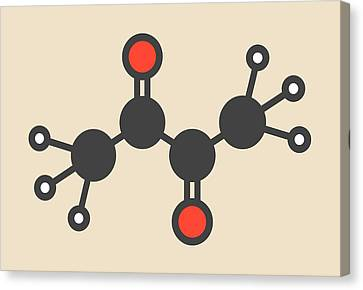 Butter Flavouring Molecule Canvas Print