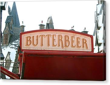 Butterbeer Sign Canvas Print by Shelley Overton