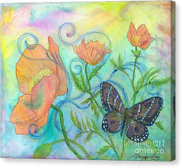Butterfly Reclaimed Canvas Print by Denise Hoag