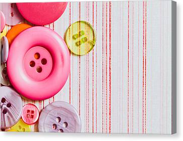 Buttons Canvas Print by Tom Gowanlock