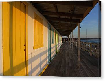 Cabana's West Meadow Beach New York Canvas Print by Bob Savage