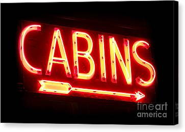 Cabins Canvas Print by Olivier Le Queinec