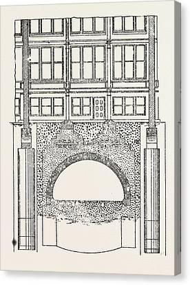 Cable Railway Tunnel Under River Near Van Buren Street Canvas Print by American School