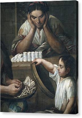 Cabrera, Miguel 1695-1768. De Castizo Y Canvas Print by Everett