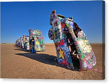 Cadillac Ranch Canvas Print by Peter Tellone