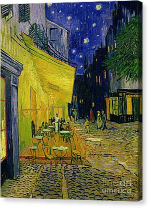 Oil On Canvas Print - Cafe Terrace Arles by Vincent van Gogh