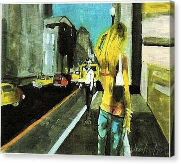 California Dreamin Calif Tan Canvas Print by Harry WEISBURD