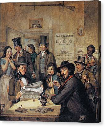 California Gold Rush, 1850 Canvas Print