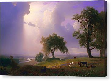California Spring Canvas Print by Albert Bierstadt