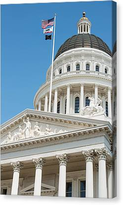 California State Capitol In Sacramento Canvas Print