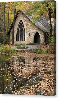 Canvas Print featuring the photograph Callaway Gardens Chapel-pine Mountain Georgia by Mountains to the Sea Photo