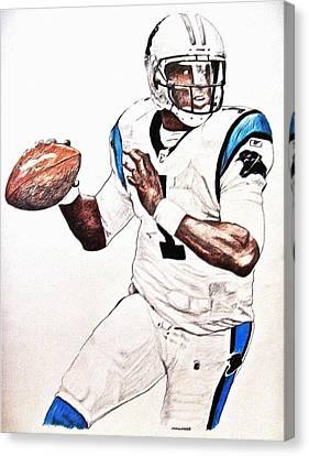 Cam Newton Canvas Print by Darryl Mallanda