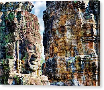 Angkor Thom Canvas Print - Cambodia, Angkor Watt, Siem Reap, Faces by Terry Eggers