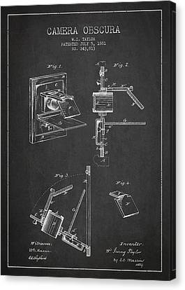 Camera Obscura Patent Drawing From 1881 Canvas Print