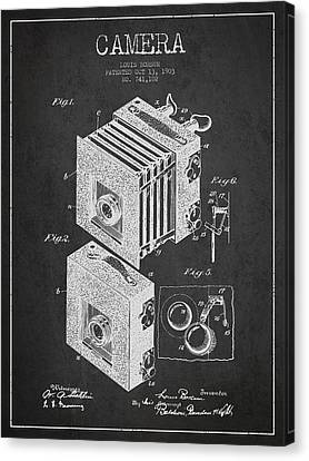 Camera Patent Drawing From 1903 Canvas Print